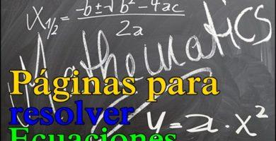 Paginas para resolver ecuaciones