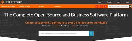 Aplicaciones en SourceForge