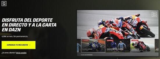 motogp directo online gratis dazn