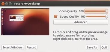 grabadores de pantalla pc recordmydesktop
