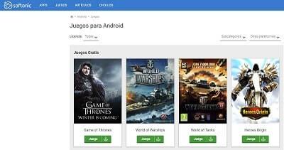 como descargar juegos gratis para android softonic