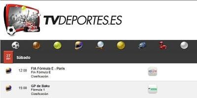 tvdeportes formula uno online