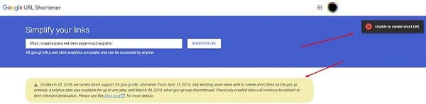 acortar url google