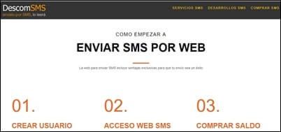 Numero para recibir SMS