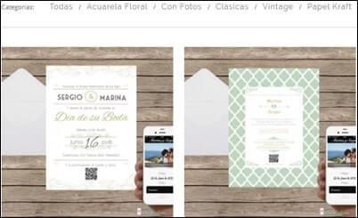 Web para invitaciones de boda