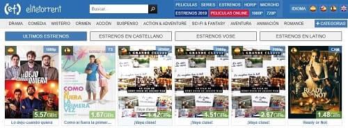 Elite Torrent series y peliculas en español NewPTC