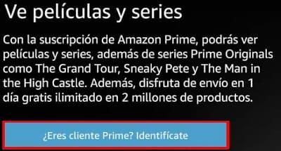 Amazon Prime cuenta