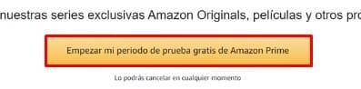 Amazon Prime probar
