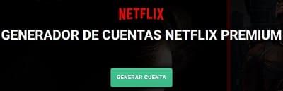Generar cuentas Netflix