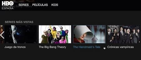 HBO España aplicación