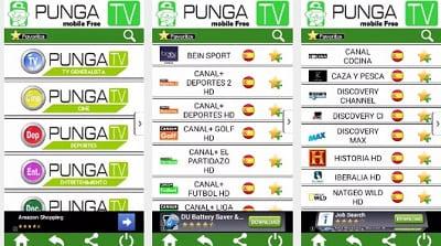 Punga TV aplicación