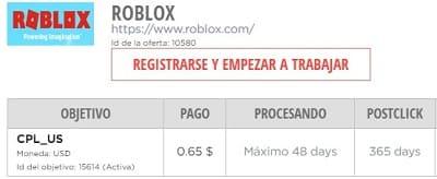 Roblox programa afiliados