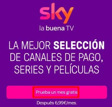Sky prueba gratis