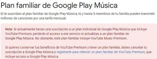 Google Play Music planes