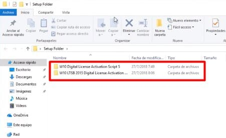 Windows 10 activación digital