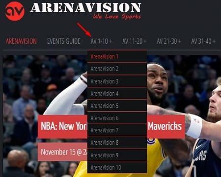 Arenavision partidos de fútbol