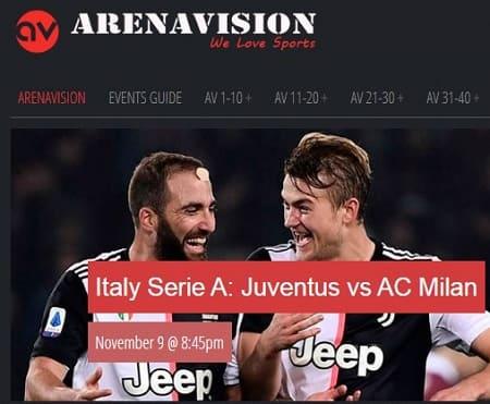 Arenavision deportes online