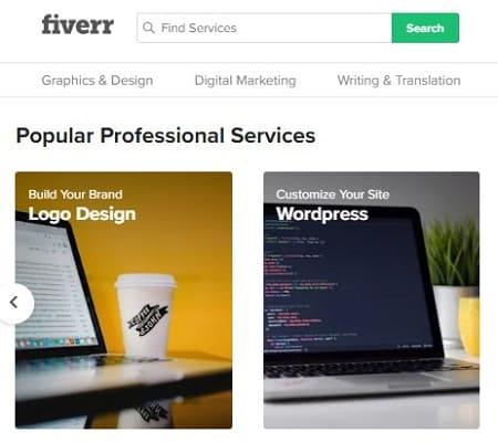Fiverr vender diseños