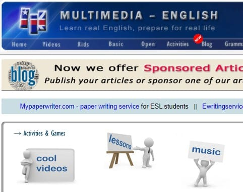 Multimedia English practicar listening