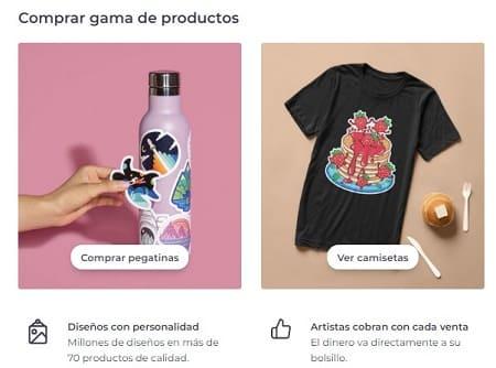 Redbubble vender diseños