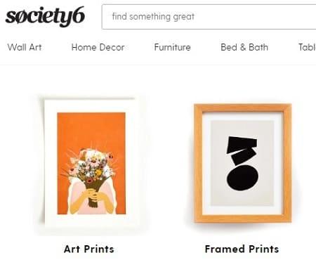 Society6 vender diseños
