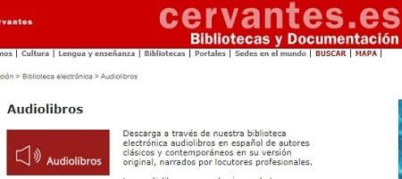 Biblioteca Cervantes descargar audiolibros