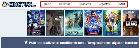 Cinetux películas gratis móvil