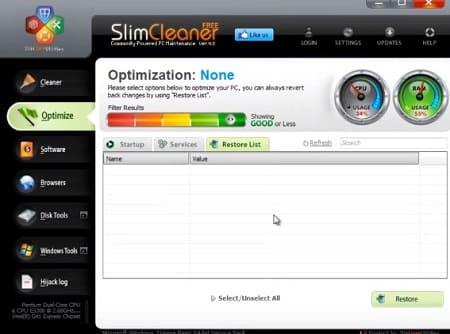 SlimCleaner optimizar ordenador