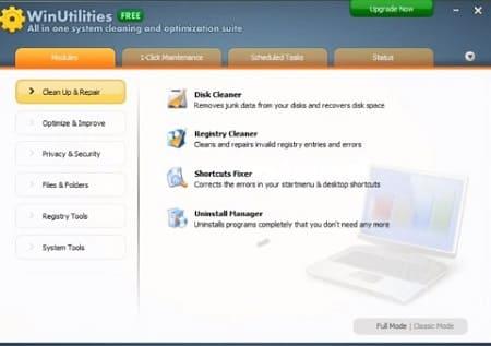 Programa WinUtilities Free Edition limpiar PC