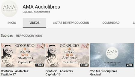 YouTube descargar audiolibros