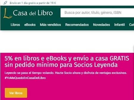 Página descargar libros