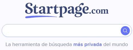 Startpage buscadores de Internet
